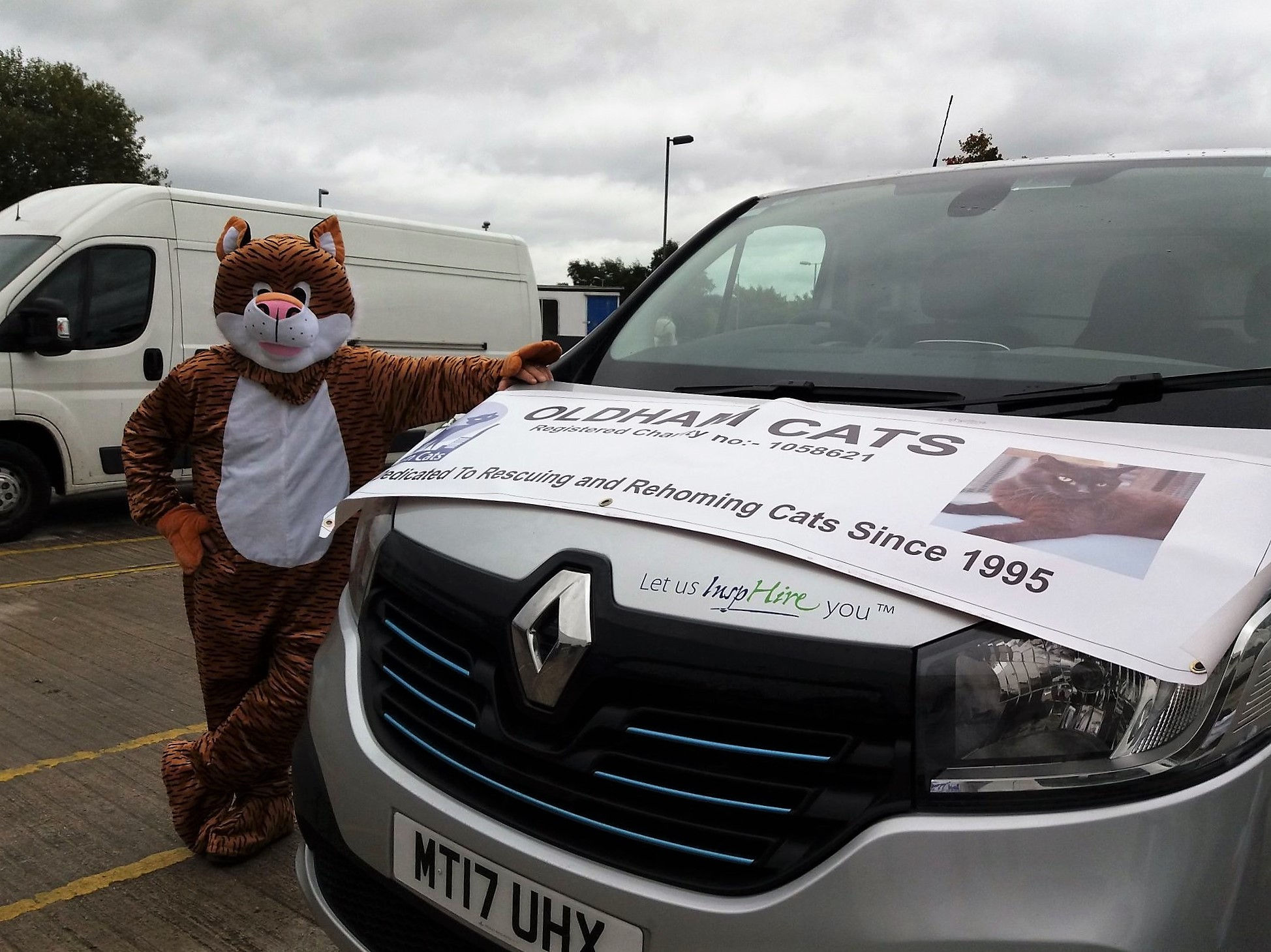 Oldham Cats Mascot Renault Trafic