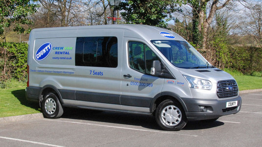 Ford Transit LWB Trend 7 Seat Crew Cab Van for hire | County