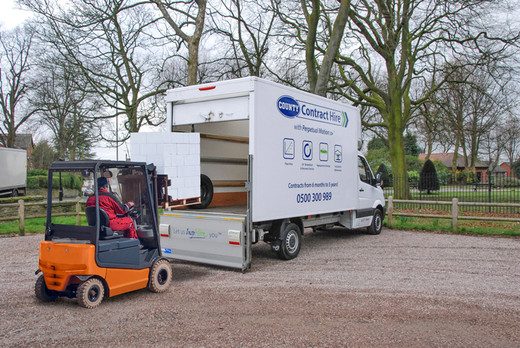 c6f5685bc6 Mercedes Sprinter Luton Box Tail Lift with Stacker Truck