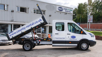 Ford Transit Double Cab One-Stop-Shop 7 Seat Tipper Side with Tipper Raised