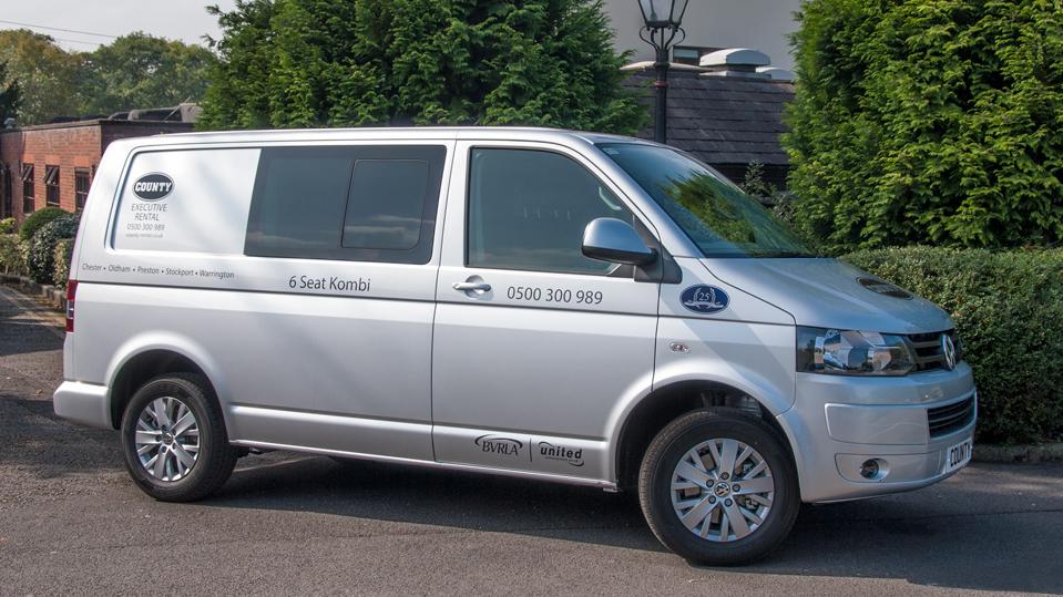Stockport Car Sales >> VW Transporter Kombi Highline 6 Seat SWB for Hire | County Car & Van Rental