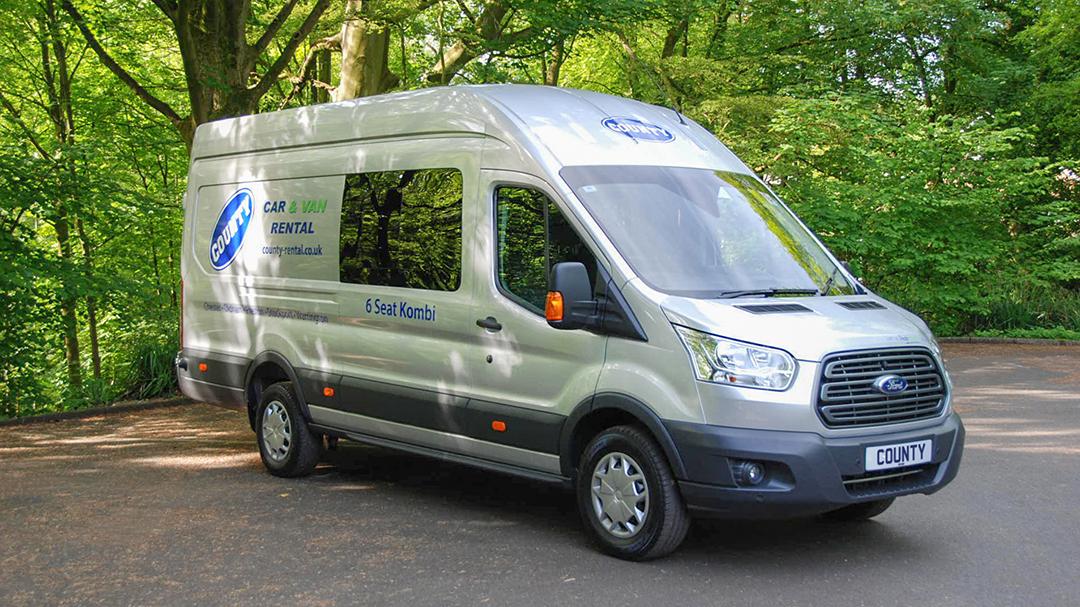 Ford Transit Jumbo Trend 6 Seat Crew Cab Van For Hire County Car Van Rental
