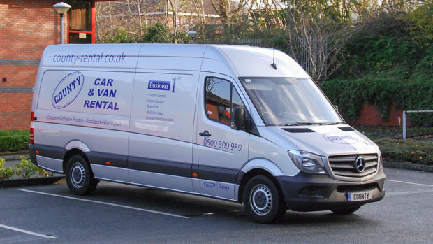 Stockport Car Sales >> Mercedes Sprinter 4.2m Internal Length High Roof with Air Conditioning for hire | County Car ...